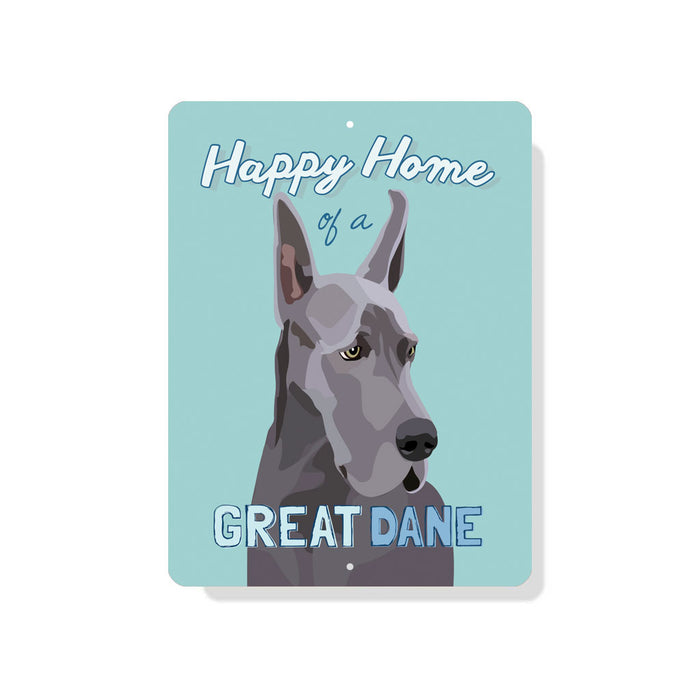 "Great Dane - (Cropped Ears) sign 9"" x 12"""