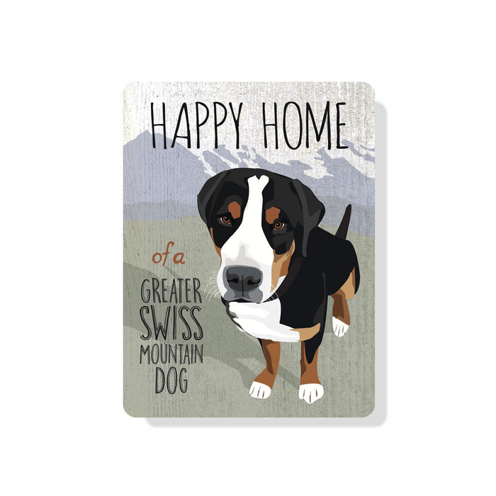 "Greater Swiss Mountain Dog sign 9"" x 12"""