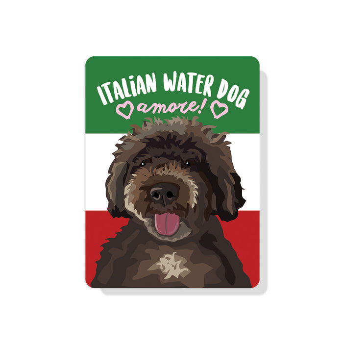 "Italian Water Dog - Amore Sign 9"" x 12"""