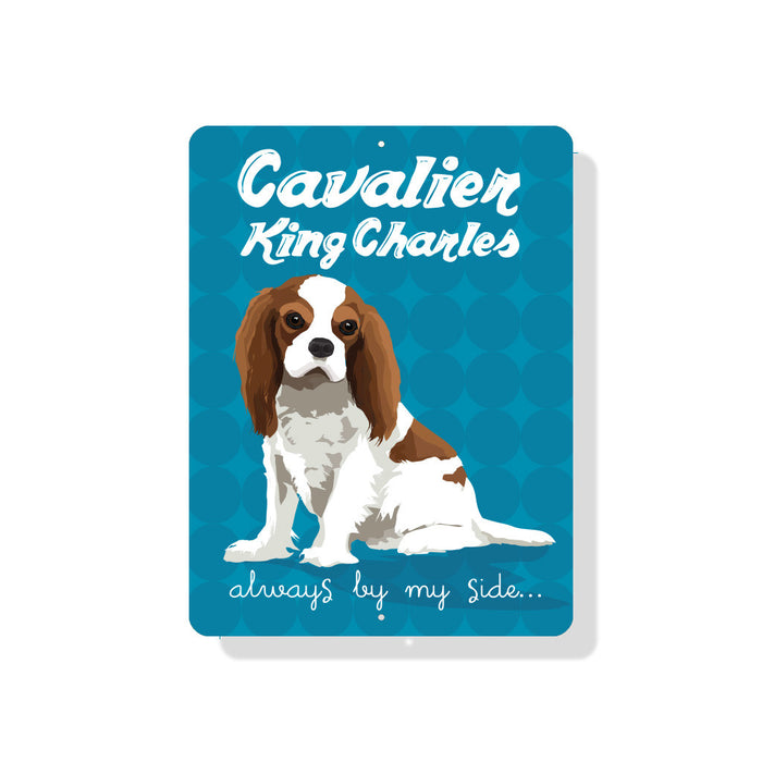 "Cavalier King Charles (Spaniel) - Always By My Side 9"" x 12""  - Blenheim"