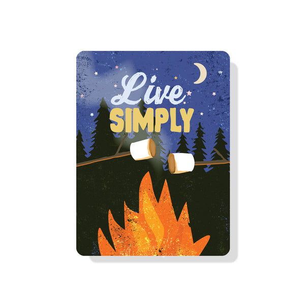 "Live Simply sign 9"" x 12"""