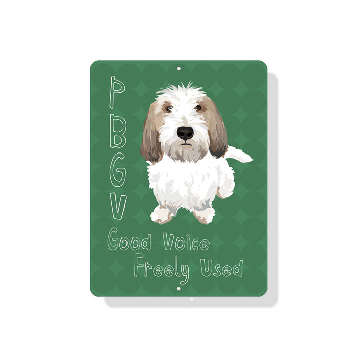 "PBGV - Good Voice, Freely Used sign - 9"" x 12"" - Blue"