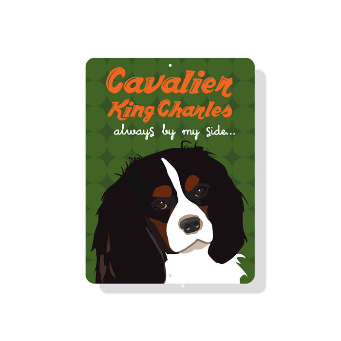 "Cavalier King Charles (Spaniel) - Always By My Side 9"" x 12""  - Green"