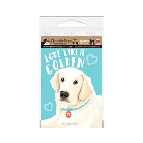"Golden Retriever (English Cream) Magnet - 3.56"" x 4.75"""