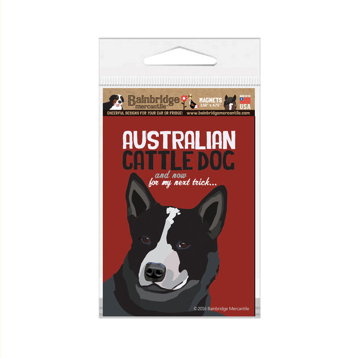 "Australian Cattle Dog (Black) Magnet - 3.56"" x 4.75"""