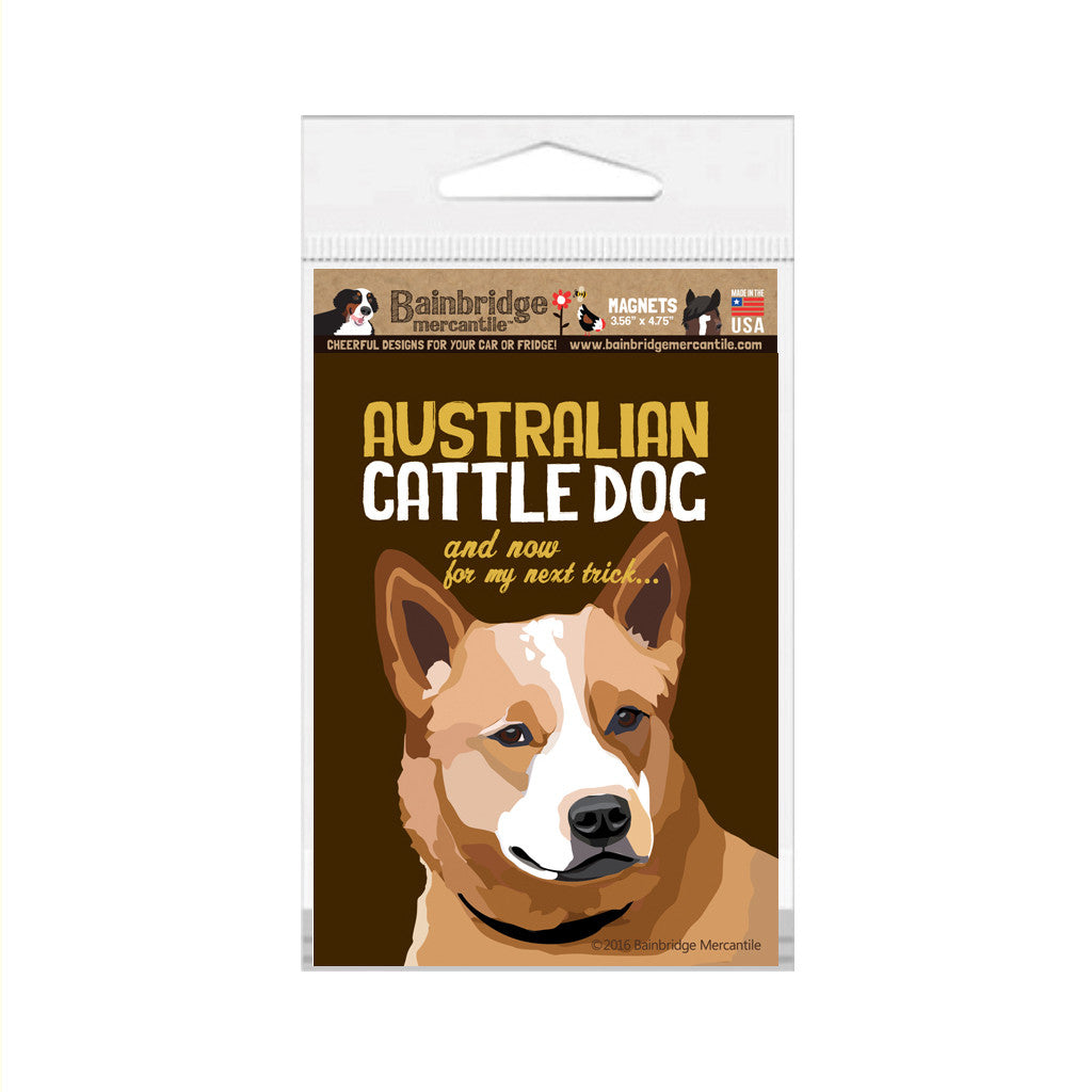 "Australian Cattle Dog (Brown) Magnet - 3.56"" x 4.75"""