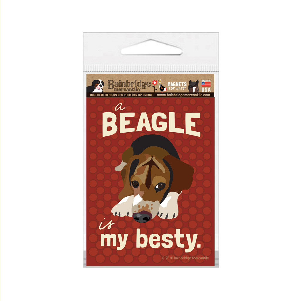 "A Beagle Is My Besty Magnet - 3.56"" x 4.75"""