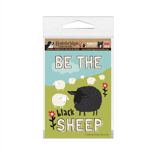 "Be The Black Sheep (Cottage) Magnet - 3.56"" x 4.75"""