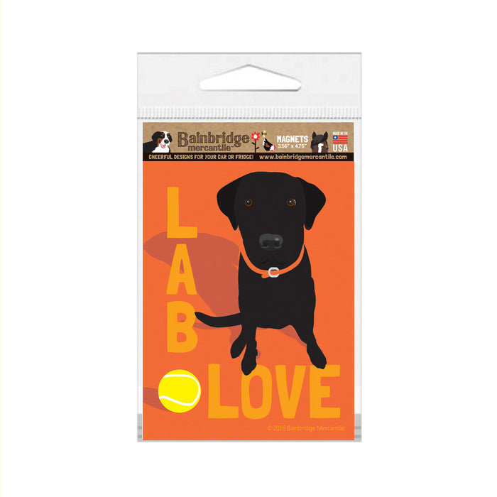 "Lab Love (Black) Magnet - 3.56"" x 4.75"""