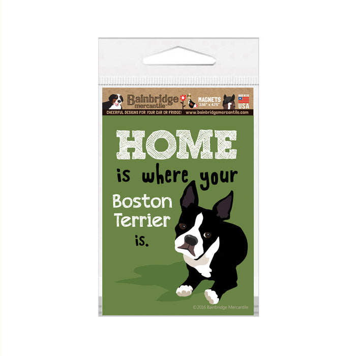"Boston Terrier Magnet - 3.56"" x 4.75"""
