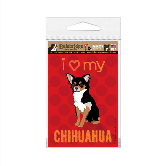 "Chihuahua (Black & Tan Dog) Magnet - 3.56"" x 4.75"""
