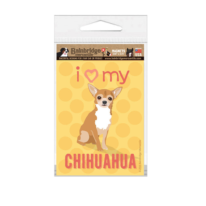 "Chihuahua (Fawn Dog) Magnet - 3.56"" x 4.75"""