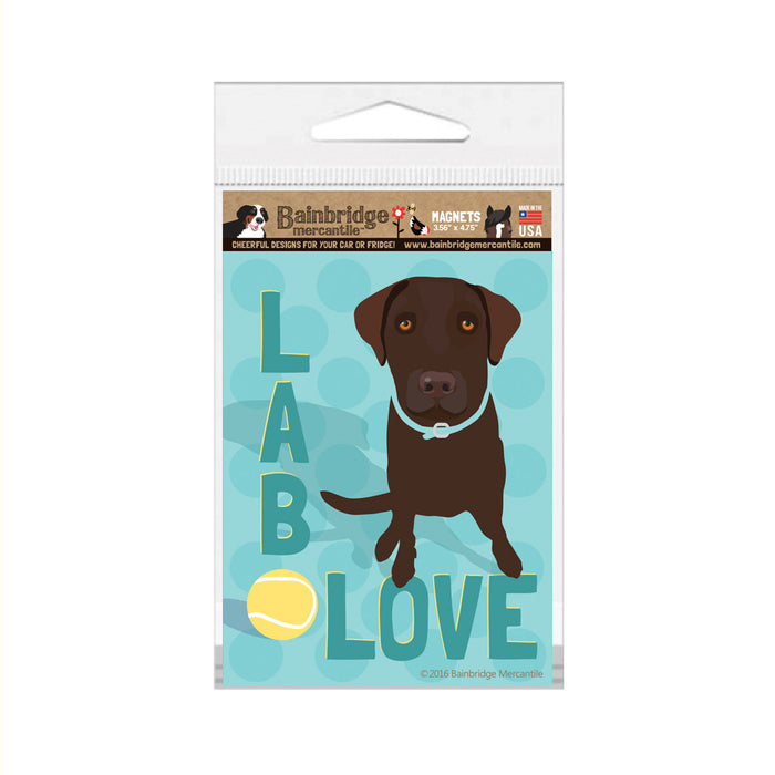 "Lab Love (Chocolate) Magnet - 3.56"" x 4.75"""