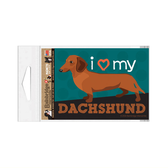 "Dachshund (Red Dog) Magnet - 3.56"" x 4.75"""