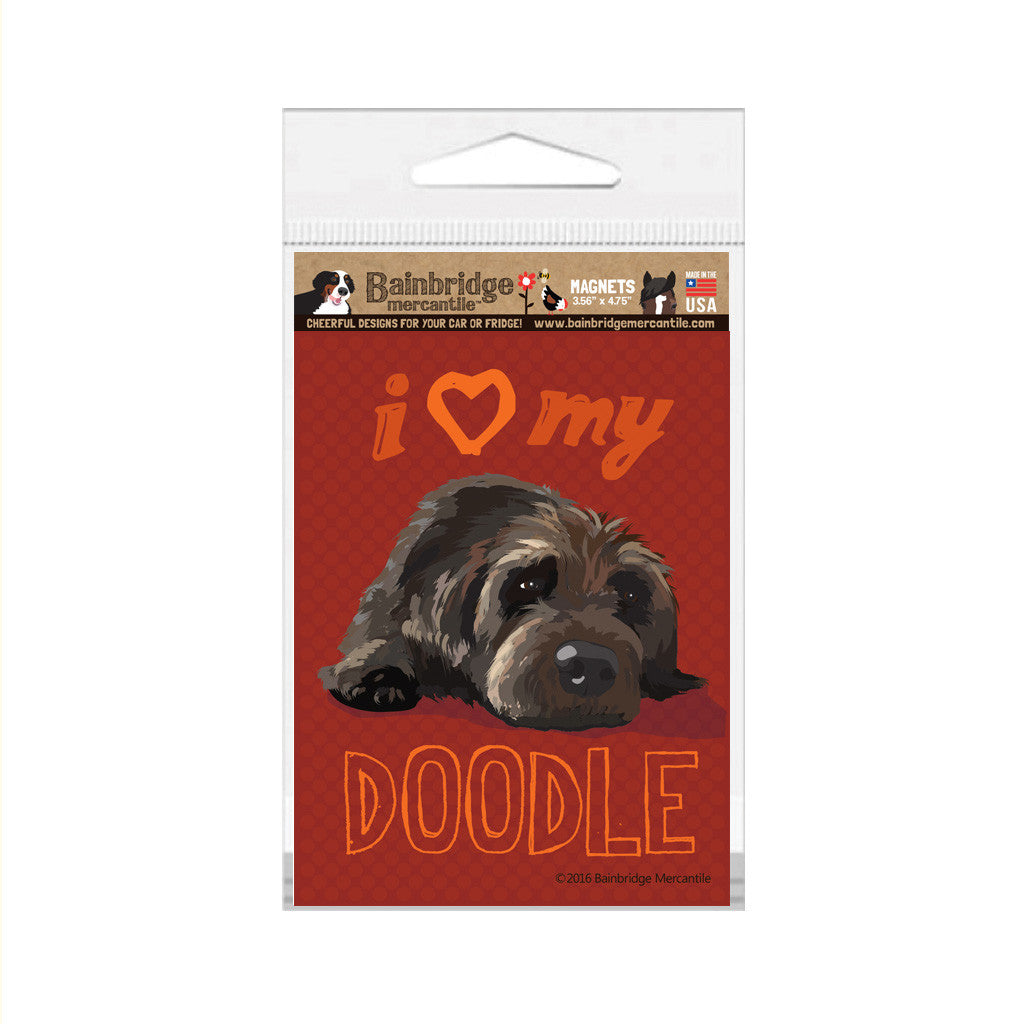 "Doodle (Chocolate Dog) Magnet - 3.56"" x 4.75"""
