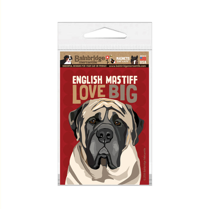 "English Mastiff Magnet - 3.56"" x 4.75"""