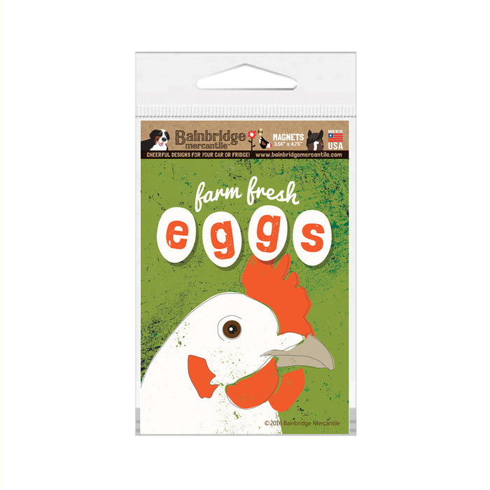 "Farm Fresh Eggs Magnet (Wasabi)- 3.56"" x 4.75"""