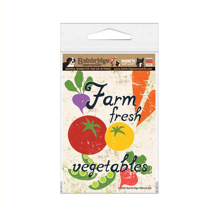"Farm Fresh Vegetables Magnet - 3.56"" x 4.75"""