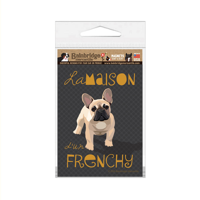 "French Bull Dog Magnet - 3.56"" x 4.75"""