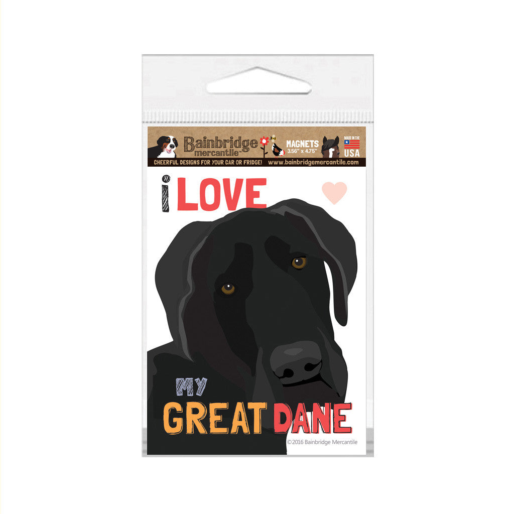 "Great Dane Magnet - 3.56"" x 4.75"""