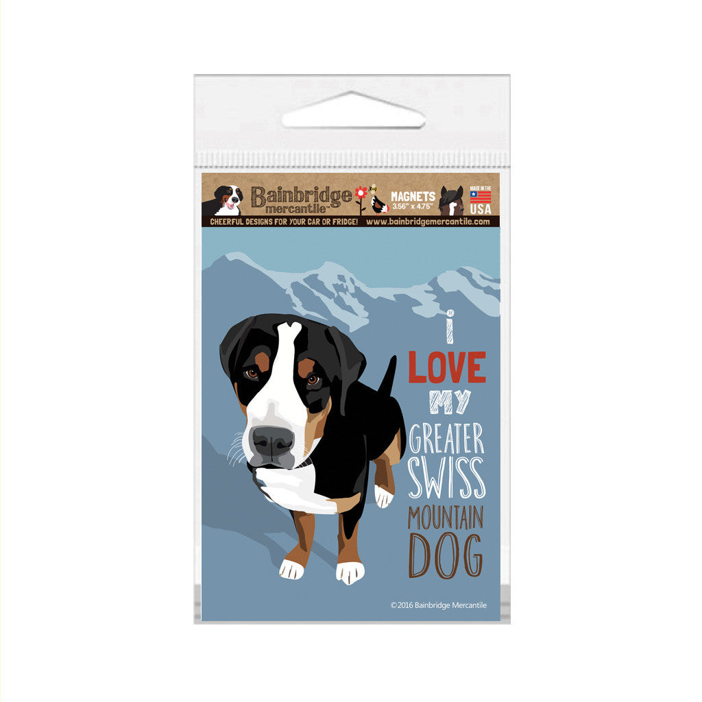"Greater Swiss Mountain Dog Magnet - 3.56"" x 4.75"""