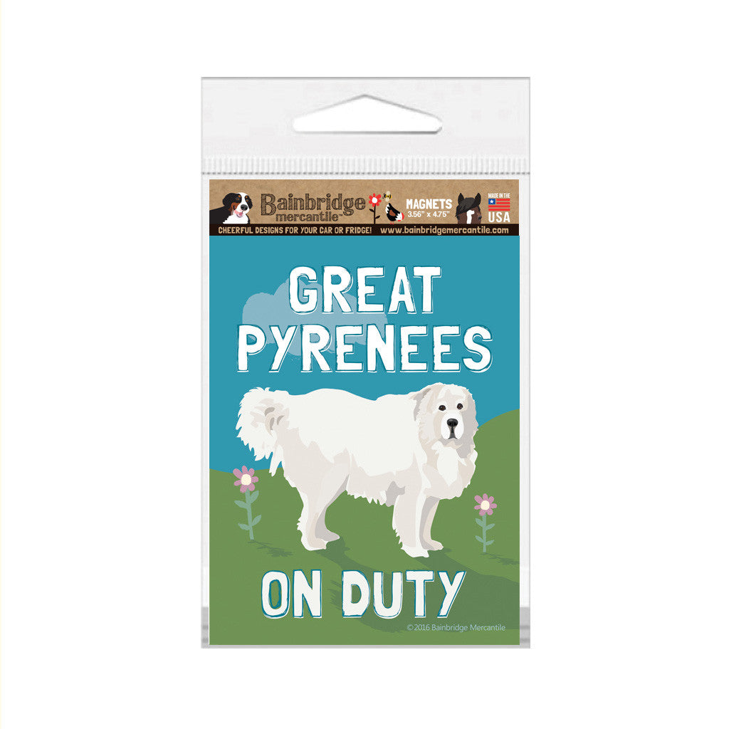 "Great Pyrenees Magnet - 3.56"" x 4.75"""