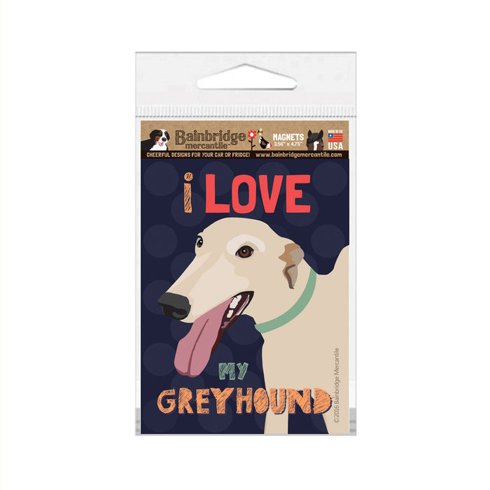 "Greyhound Magnet - 3.56"" x 4.75"""