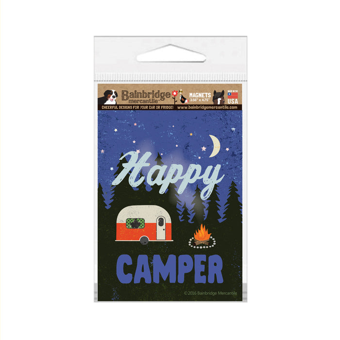 "Happy Camper Magnet (Red Camper) - 3.56"" x 4.75"""