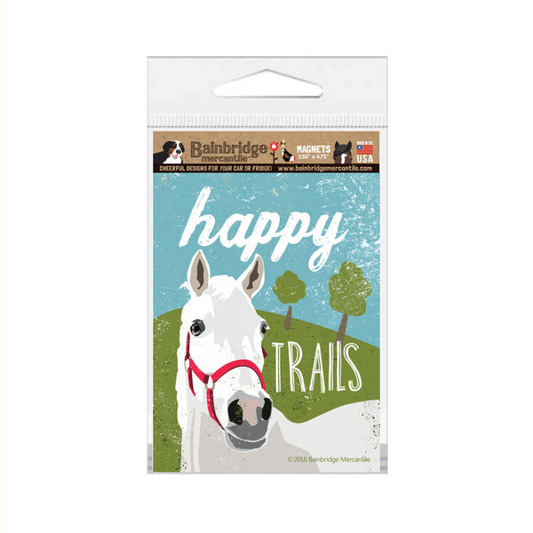 "Happy Trails (Horse) Magnet - 3.56"" x 4.75"""
