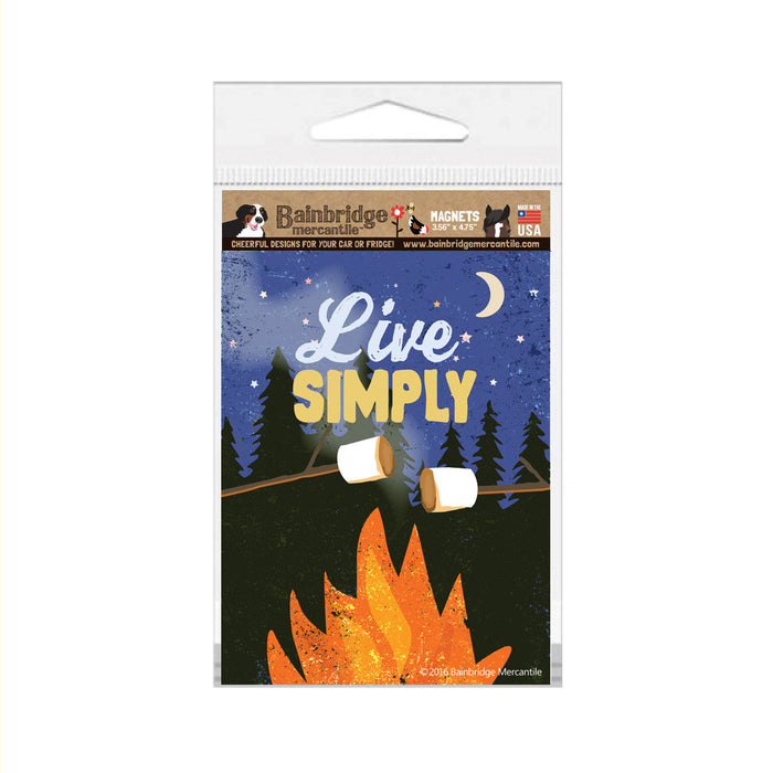 "Live Simply Magnet- 3.56"" x 4.75"""