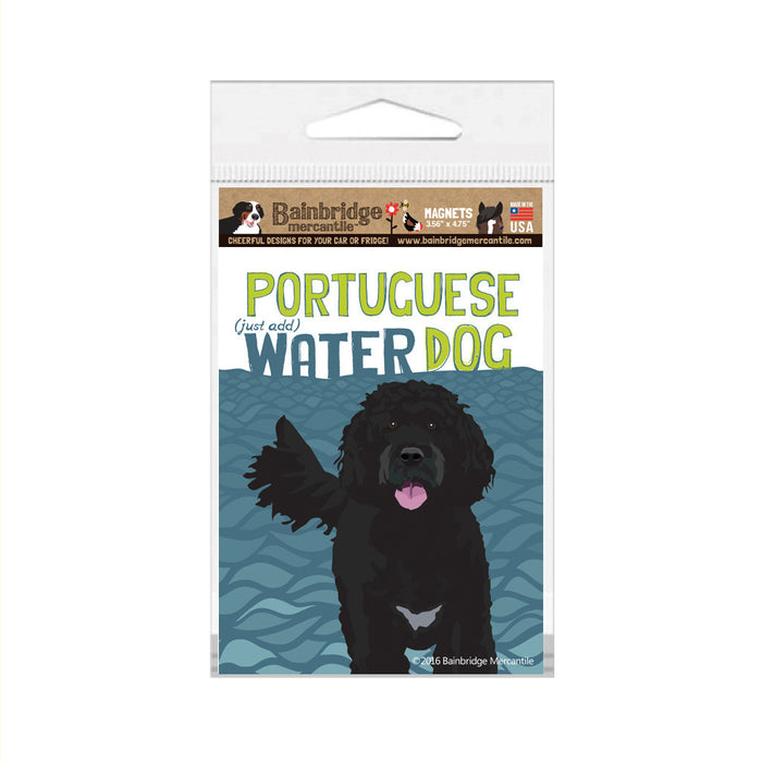 "Portugese Water Dog Magnet -3.56"" x 4.75"""