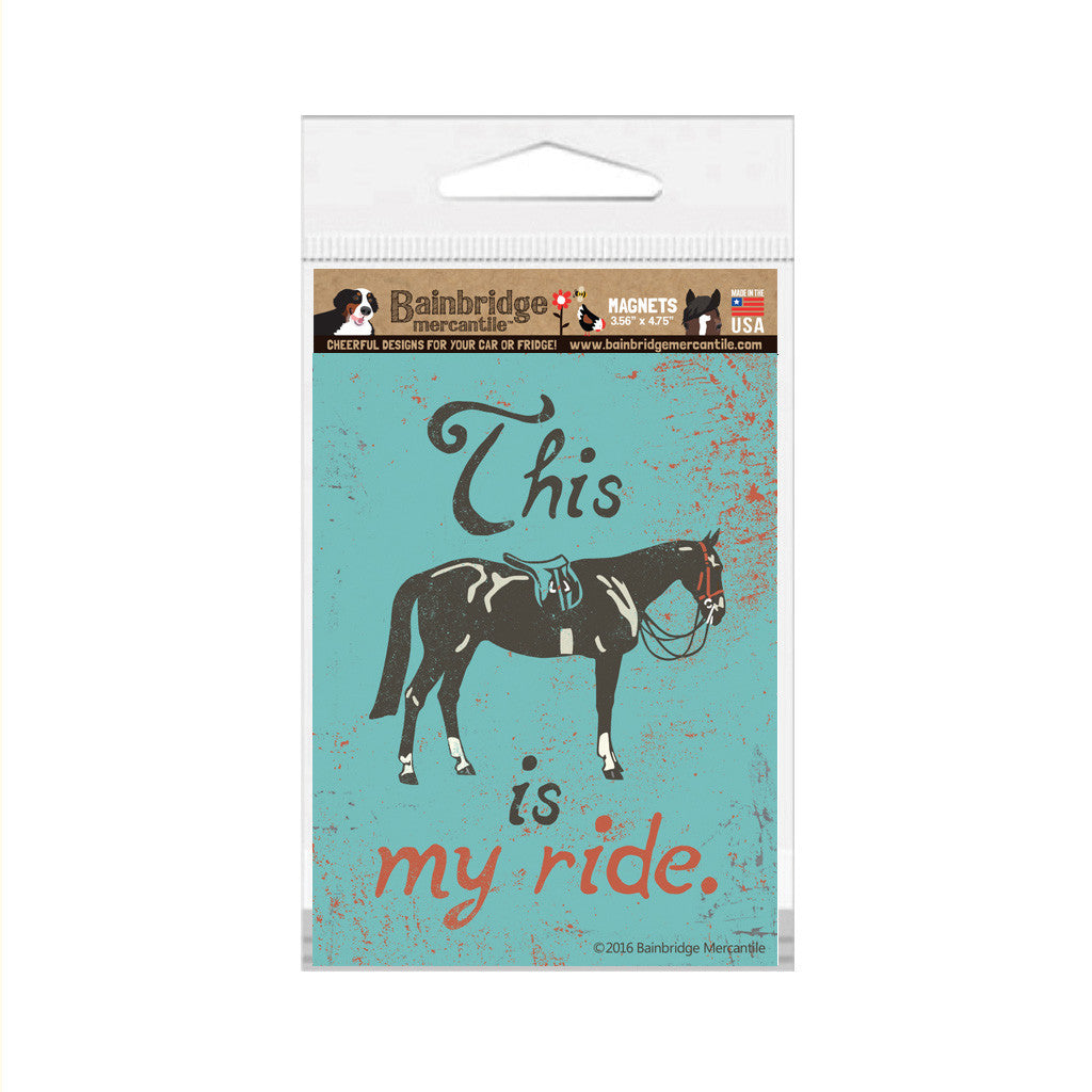 "This Is My Ride (English) Magnet -3.56"" x 4.75"""