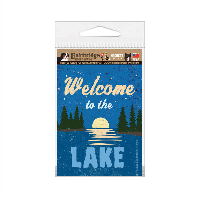 "Welcome To The Lake Magnet -3.56"" x 4.75"""