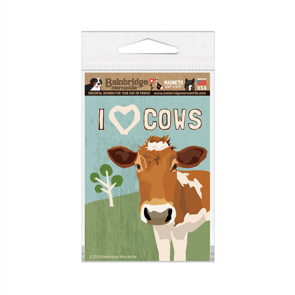 "I (Heart) Cows Magnet - 3.56"" x 4.75"""