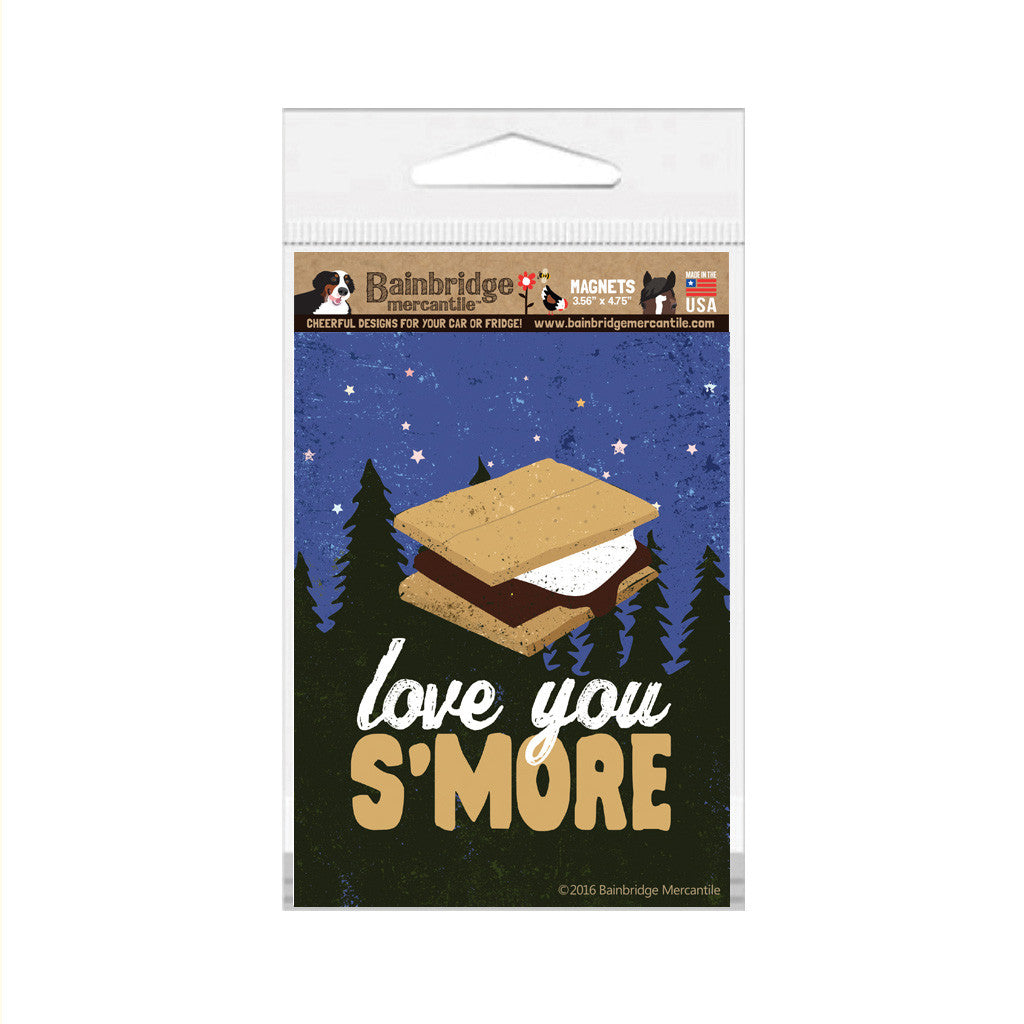 "Love You S'more Magnet -3.56"" x 4.75"""