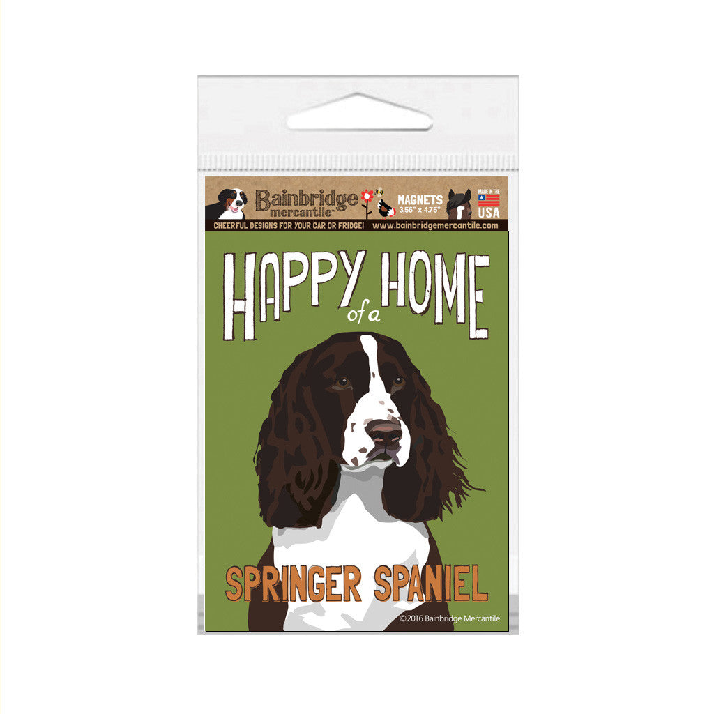 "Happy Home of a Springer Spaniel (Brown) Magnet -3.56"" x 4.75"""