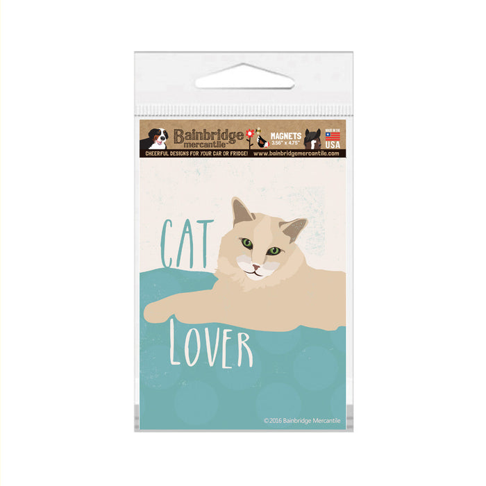 "Cat Lover Magnet -3.56"" x 4.75"""