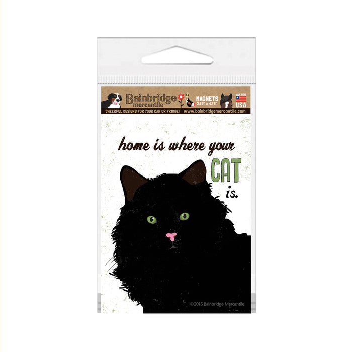 "Home Is Where Your Cat Is Magnet -3.56"" x 4.75"""