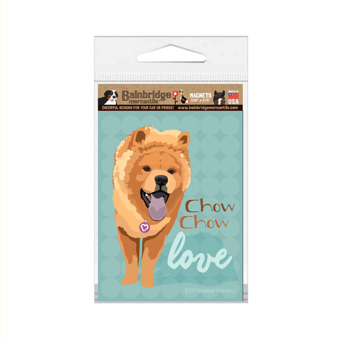 "Chow Chow Magnet (Cinnamon Color) - 3.56"" x 4.75"""