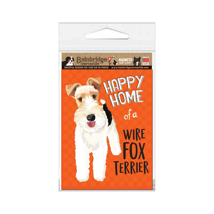 "Wire Fox Terrier Magnet 3.56"" x 4.75"""