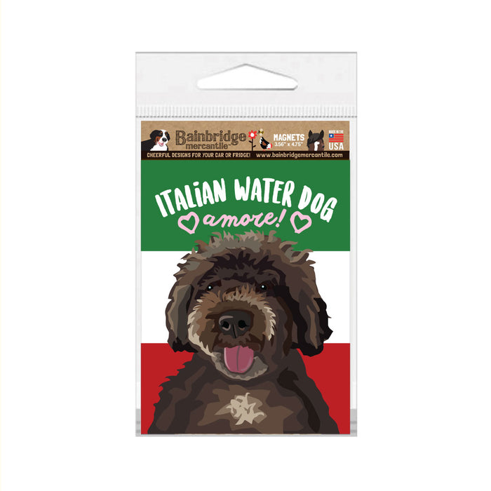 "Italian Water Dog Magnet -3.56"" x 4.75"""
