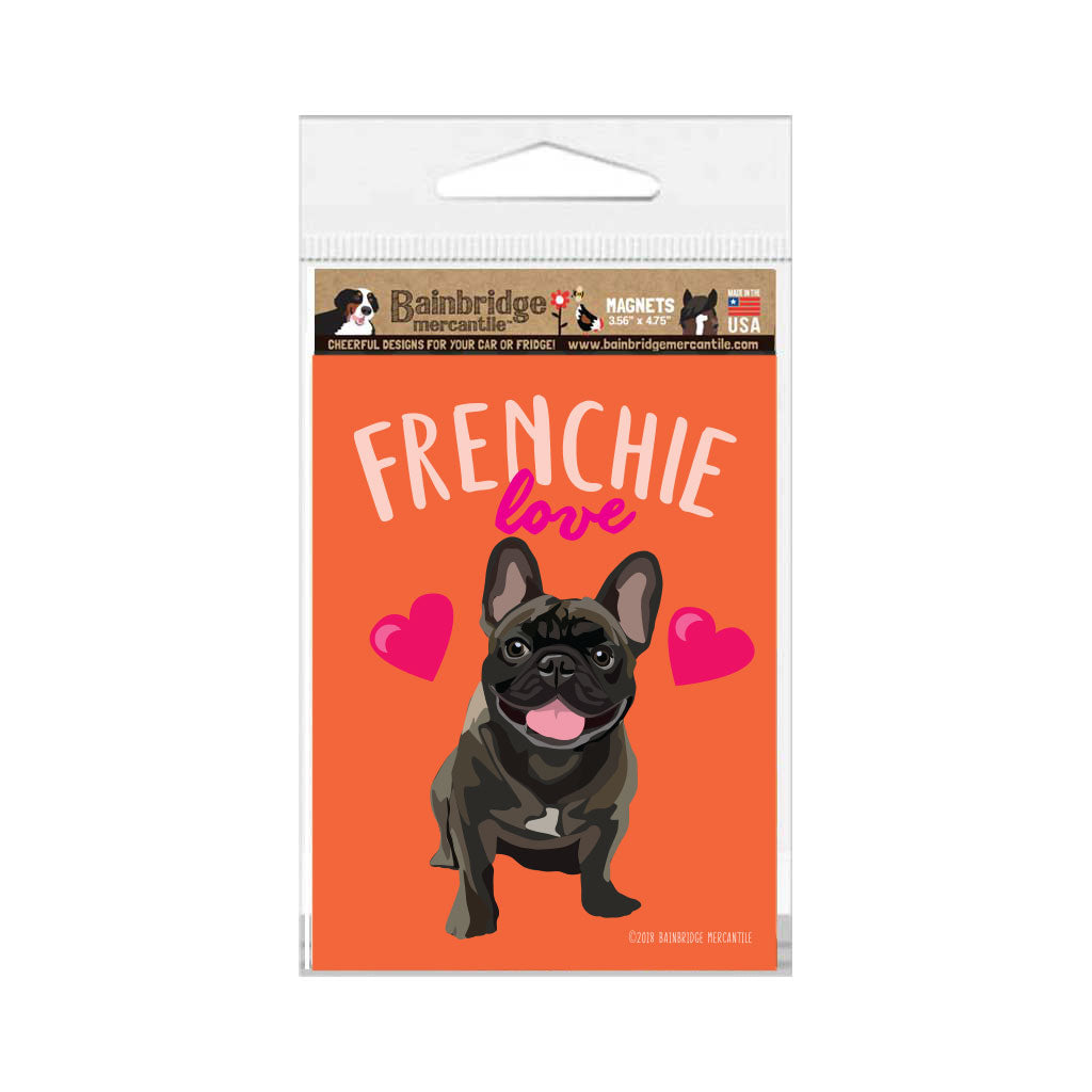 "French Bull Dog Magnet - Frenchie Love 3.56"" x 4.75"""