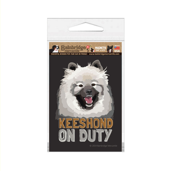 "Keshond on Duty Magnet 3.56"" x 4.75"""