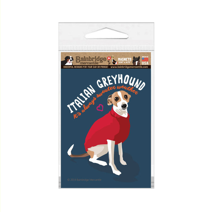 "Italian Greyhound Magnet 3.56"" x 4.75"""