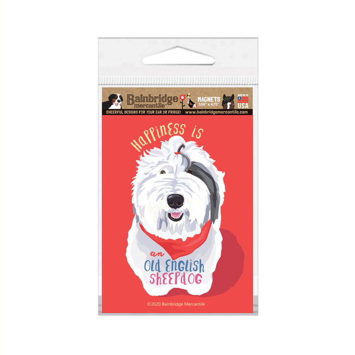 "Old English Sheepdog Magnet 3.56"" x 4.75"""