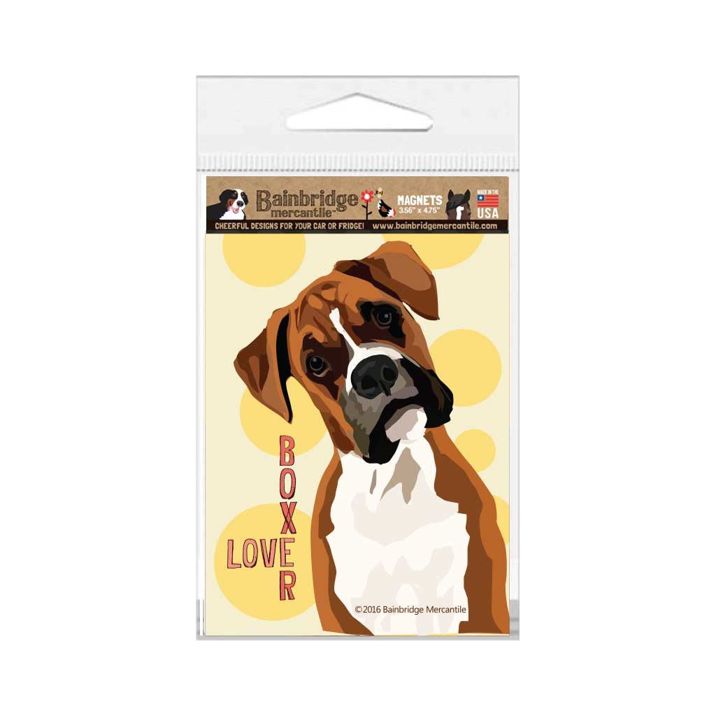 "Boxer (Single Dog) Magnet - 3.56"" x 4.75"""