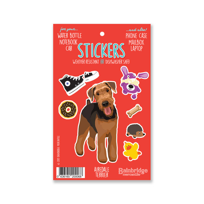 "Airdale Terrier - Sticker Sheet 4"" x 6.50"""