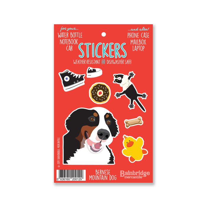 "Bernese Mountain Dog - Sticker Sheet 4"" x 6.50"""
