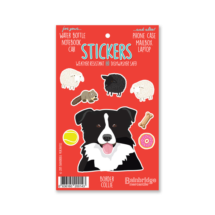 "Border Collie - Sticker Sheet 4"" x 6.50"""