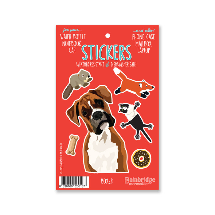 "Boxer - Sticker Sheet 4"" x 6.50"""